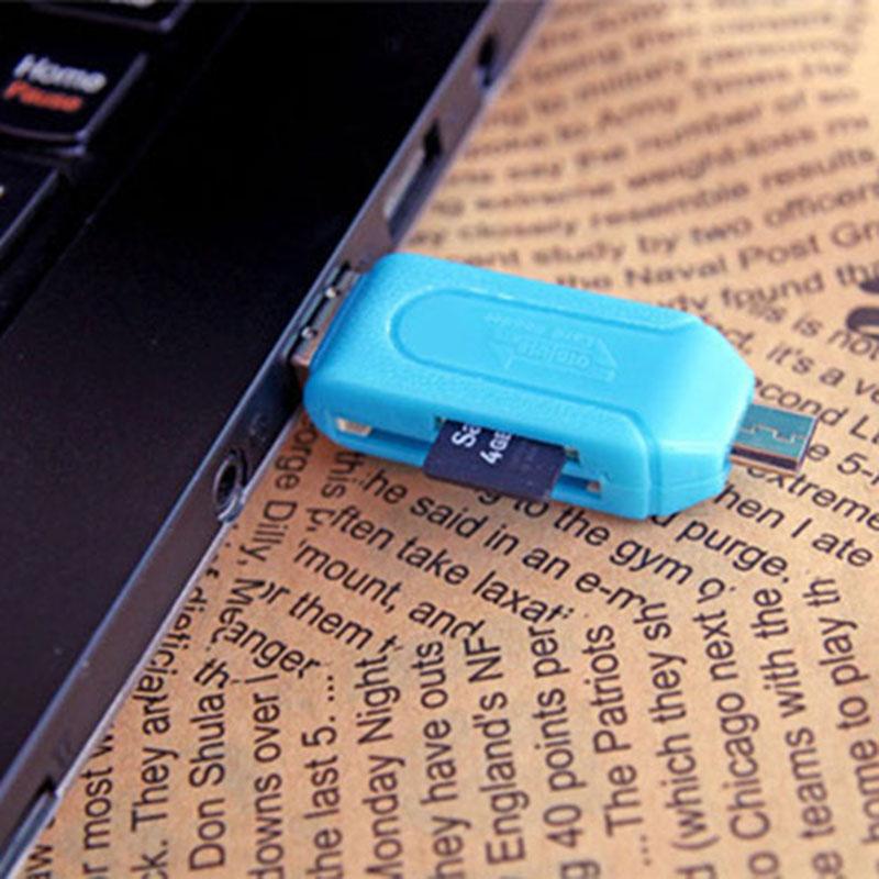 Universal Card Reader Mobile phone PC Card Reader Micro USB OTG Card Reader OTG TF / SD Flash Memory Wholesale