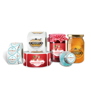 Favourable Price Custom Printed Roll Self Adhesive Labels For Honey Jars