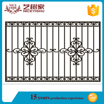 Yishujia supplier modern simple indian style of iron for Modern zen window grills design