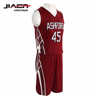 8a2a246fb 2017 latest full sublimation printing v neck blank basketball jersey names  customized college basketball jersey