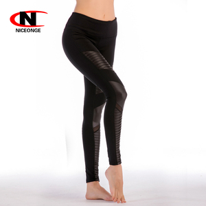 recycled eco friendly fabric materials black yoga sport tight leggings pants
