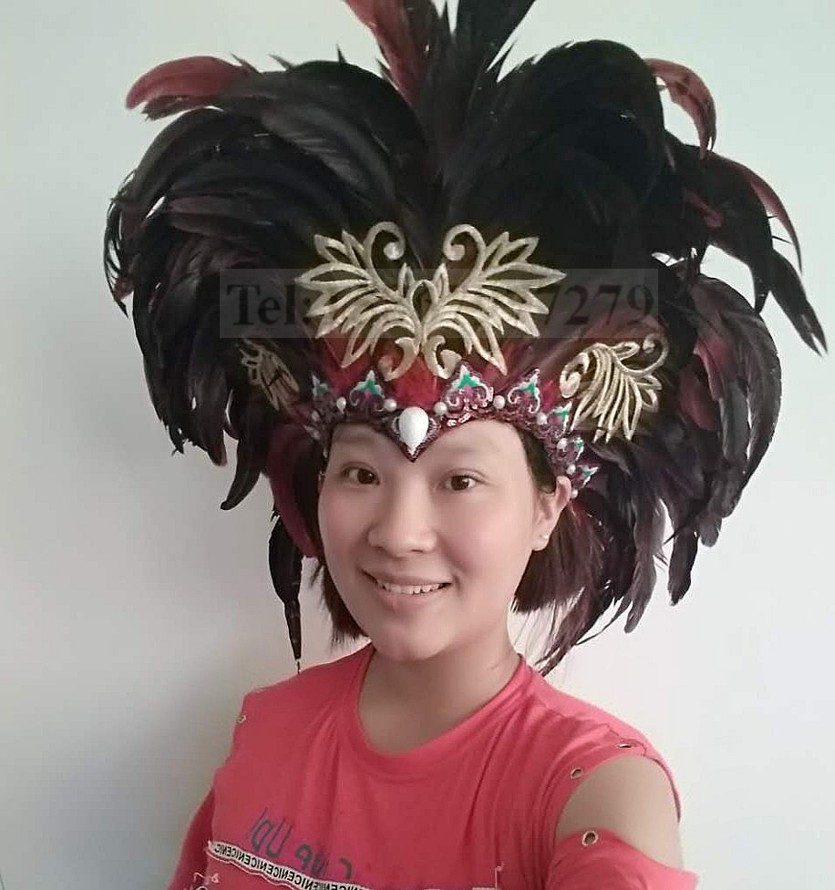 Fashion Native American Indian Nature Feather Headband Craft Show Carnival Headdress