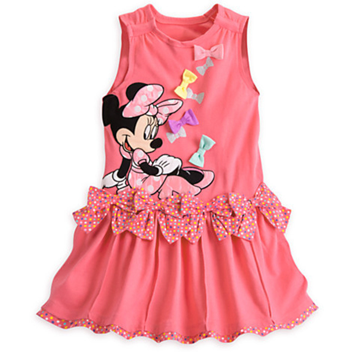770d53429 Get Quotations · New2015 Baby Girl Summer Dress Girls Minnie Mouse Pink Red Dress  Girl's Casual Party Dress cottons
