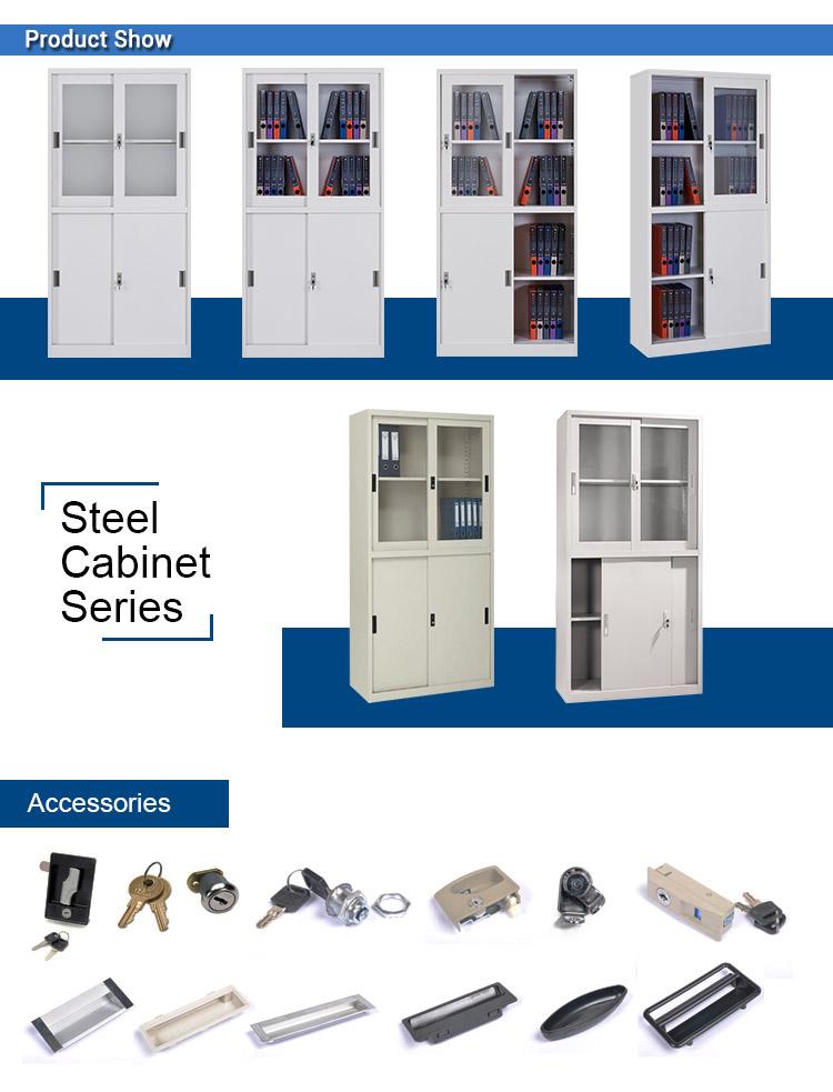 Good Price Office Metal Sliding door target file cabinet storage