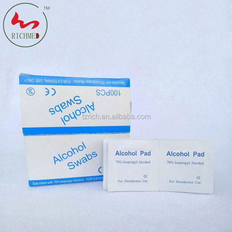 알코올 prep Pads 알코올 면봉면 알코올 면봉면 대 한 소독