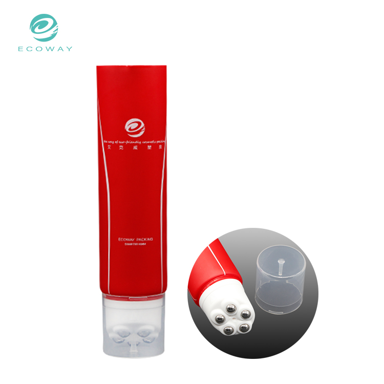 Wholesale plastic containers red massage slimming cream lotion packaging tube