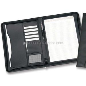 4b5421064242 Zipper portfolio A5 folder with zip