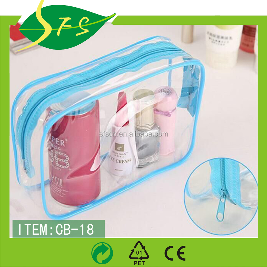 Factory Makeup Artist Clear Pvc Set Bag Removable Shoulder Strap Tote Make Up Kit Mini Cosmetic Ping Bags Plastic