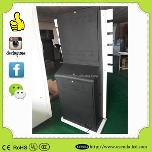 42inch OEM Indoor remote digital advertising player custom made design case  for facebook,wechat,instagram photo printer