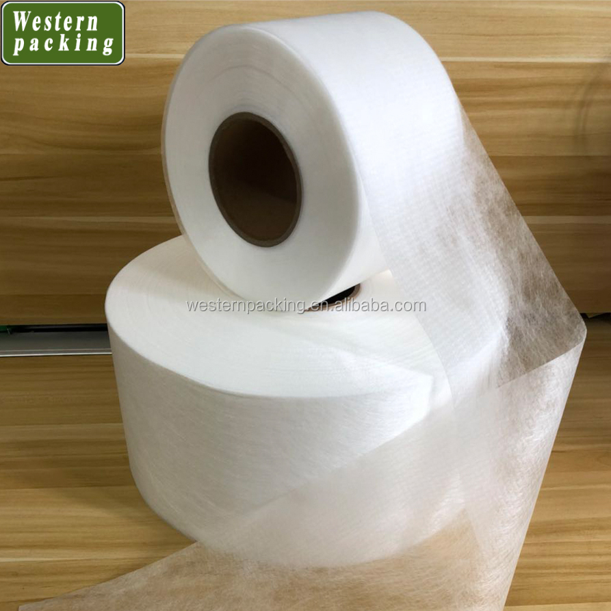 Factory direct sale pla biodegradable non woven fabric tea bag roll