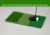 "12""x24"" Double color/Three color mini short grass golf hitting mat with Rubber Tee Holder"