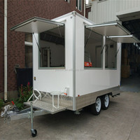 Ice Cream Fibreglass Caravan Mobile Food Trucks For Sale In ...