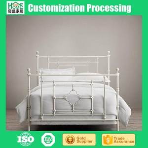 Wrought Iron Furniture Beds, Adult Antique White Twin Bed