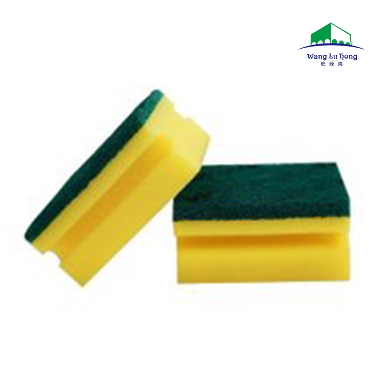Colorful Kitchen Grooved Scrub Sponge U type for Easy Dish Washing Abrasive Cleaning Sponge Scouring Pad