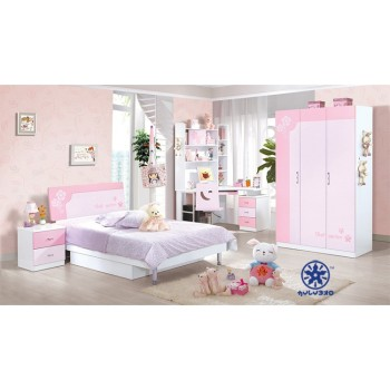 Kids Bedroom Furniture Set Cheap Girls Bed Bedroom Set Of Glossy Style Kids Room Furniture Buy