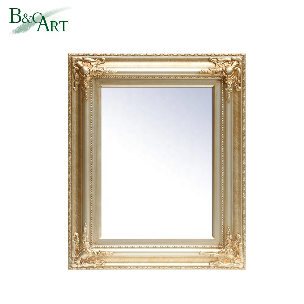 Ornate Frame Luxurious Big Fancy Stylish Wooden Dressing Wall Mirror Design