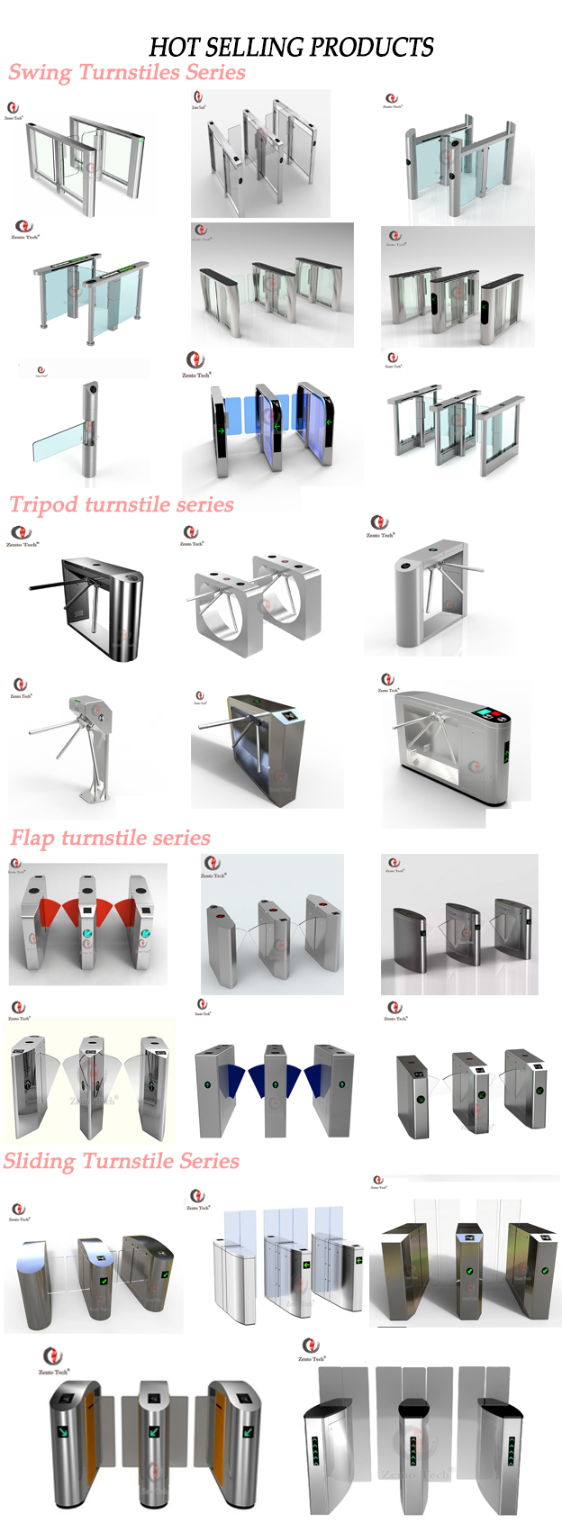 Different Gate Design Automatic Mechanical Flap Bidirectional Smart Card  Door Barrier Turnstile - Buy Barrier Turnstile,Security Access Control,Card