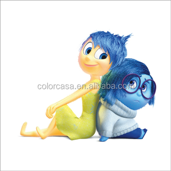 Colorcasa Wall Art Decor Pixar Disney Movie Inside Out Wall Papers ...