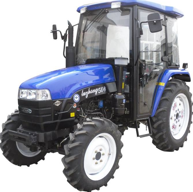Luzhong 50hp 4WD wheel farm tractor manufacturer in China