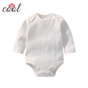 100% organic cotton baby rompers clothes long sleeve baby jumpsuit