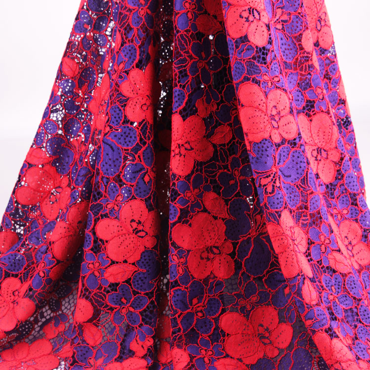 Cotton Nylon Floral Cord African Dress Lace Fabrics for Wedding Dress