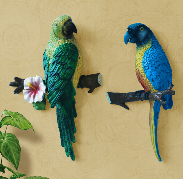 Three-dimensional parrot wall decoration wall mural fashion home decoration accessories decoration