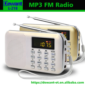 L-218 portable audio player, FM radio MP3 digital audio player