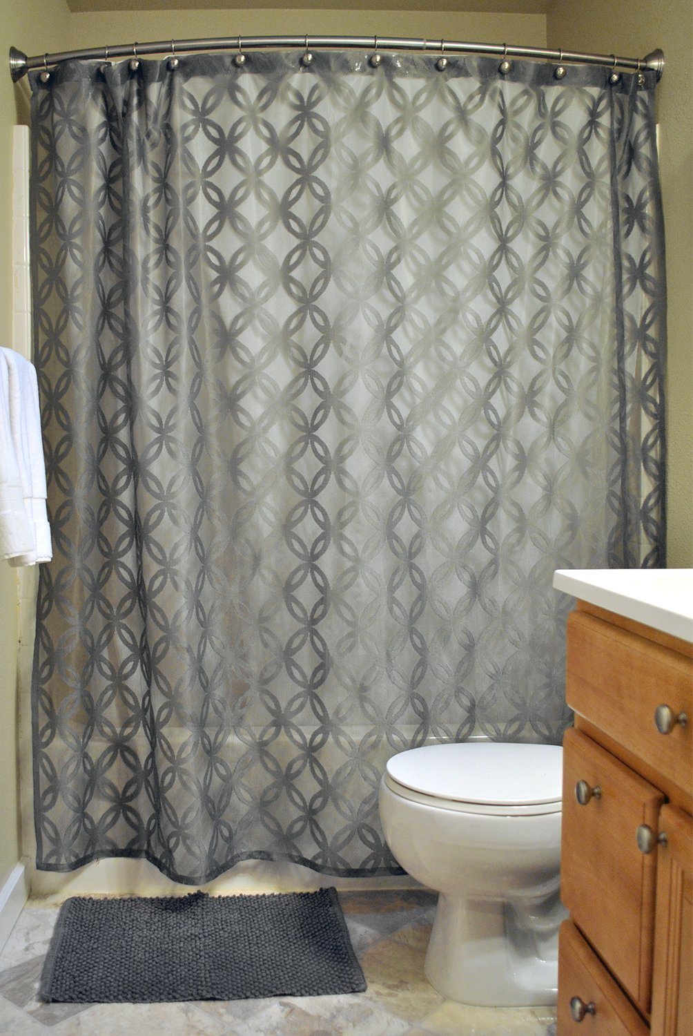 Get Quotations DII Everyday 100 Polyester Extra Long Bath Fabric Shower Curtain For Bathroom 72x72