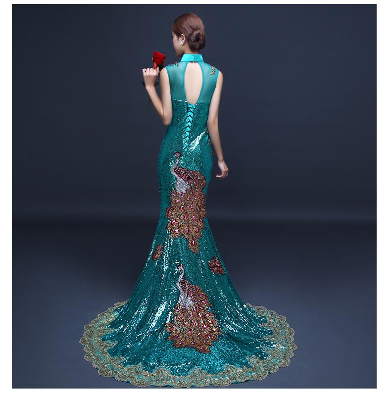 5a93c4875 Detalle Comentarios Preguntas sobre Vestido de noche verde esmeralda ...