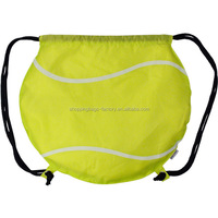 Cheap Small Cute Unique Promotion Tennis Ball Drawstring Backpack Bags