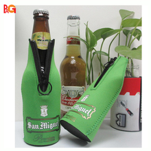 Personalized Mix Color Neoprene Beer bottle Cover / beer can cooler with zipper