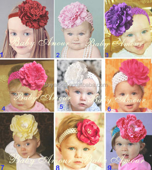 Cute baby headband infants chiffon silk big flower headband for girls  accessories babies stretchy head band eab0b3e0429