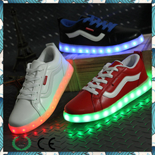 Fashion colors oem and odm led canvas china manufacurer mens shoes