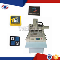 Garment label rubber band making machine