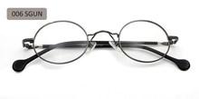 ESNBIE Высокое качество Мужские маленькие круглые металлические оправы для очков ацетат Ноги 43 мм винтажные черные круглые очки женские прозр...(Китай)