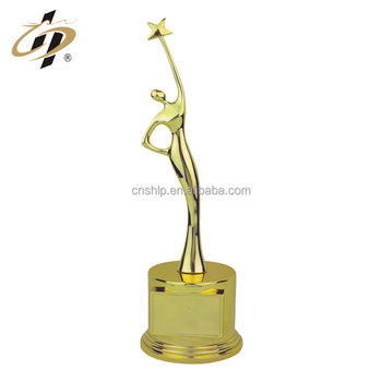 Shuanghua factory wholesale metal gold music award trophy for Grammy