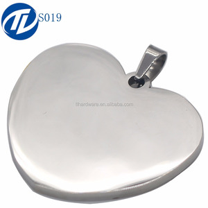Offer Free Necklace Heart Shape Stainless Steel Dog Tags Pendants Engraved Jewelry Tag