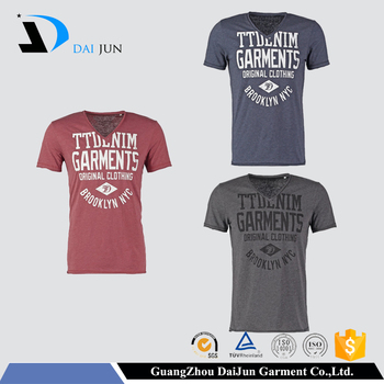 Daijun OEM Men Sport Round Neck Silk Screen Printing 100% Cotton Cheap t shirt