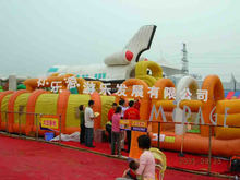 2013 new inflatable water slide with tunnel, oxford fabric slide for sales