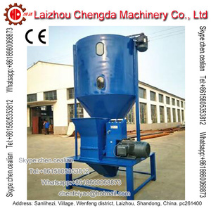 vertical animal rabbit chicken feed grinding and mixing machinery