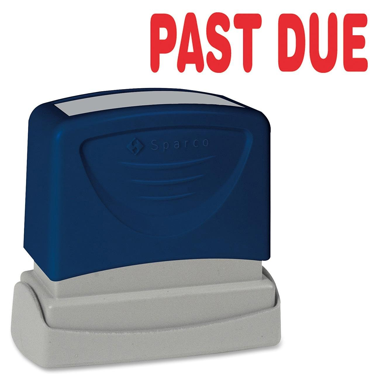 """Sparco Products Products - PAST DUE Title Stamp, 1-3/4""""x5/8"""", Red Ink - Sold as 1 EA - Title stamper offers a specially designed system that evenly disperses instant-drying ink. Protective end piece ensures clean impressions. Stamps """"PAST DUE."""" Impression size is 1-3/4"""" x 5/8""""."""