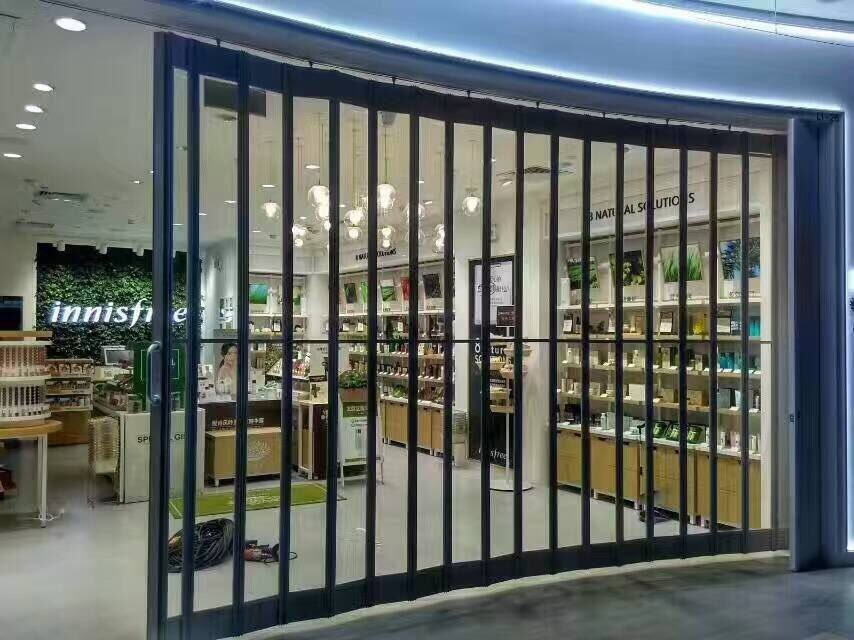 product-Zhongtai-Commercial Sliding Polycarbonate Crystal Folding Door Security Door-img-1