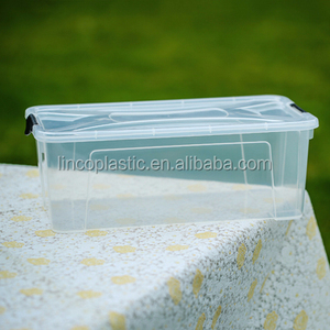 plastic 6L full transparent daily shoes storage with cover
