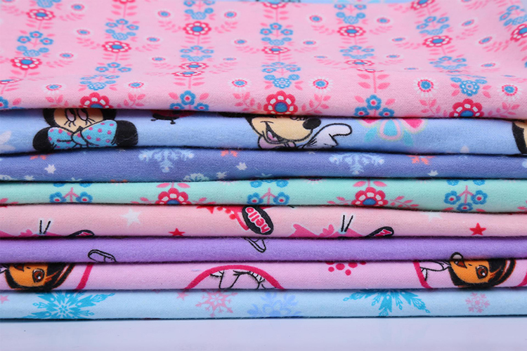 wholesale brushed cotton flannel fabric for bed sheet for sale