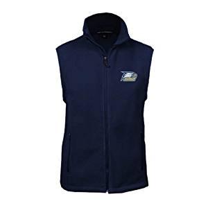 Georgia Southern Fleece Full Zip Navy Vest 'Georgia Southern w/ Eagle Head'