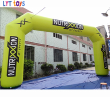 Inflatable Berjalan Arch dengan Logo Garis Finish Garis Start Arch
