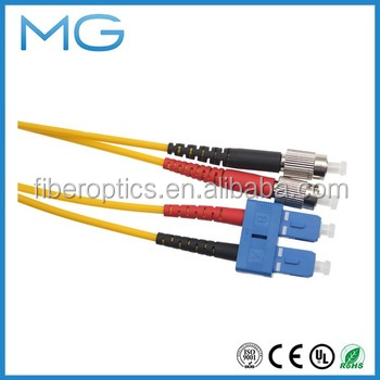 free samples online shopping china supplier SC/FC/ST/LC/MU Duplex SC-FC SM 2.0mm Optic Fiber Patch cord/Jumpers