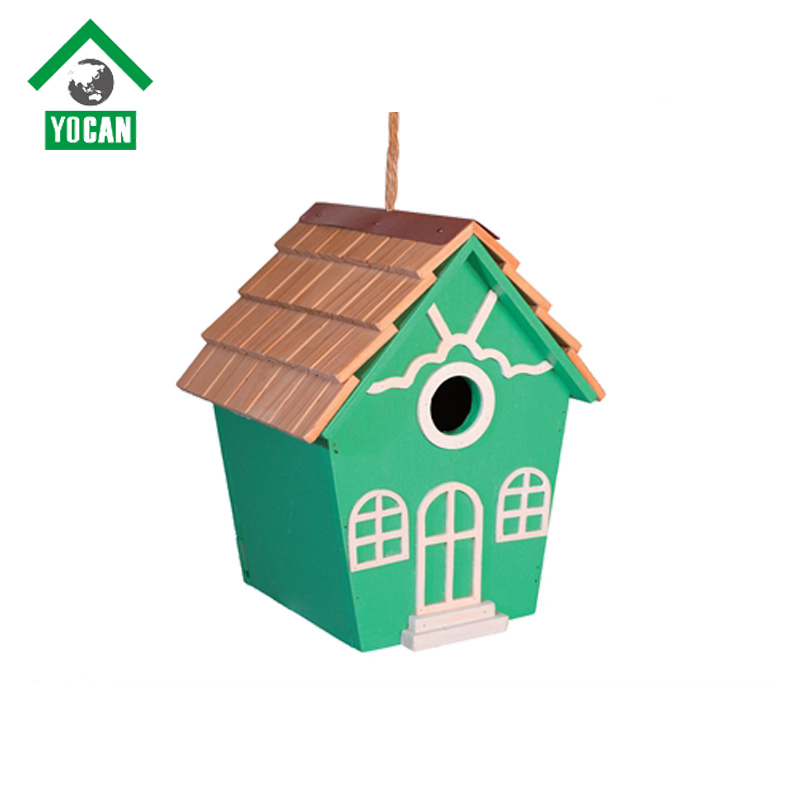 modern-styled Folk Art bird house