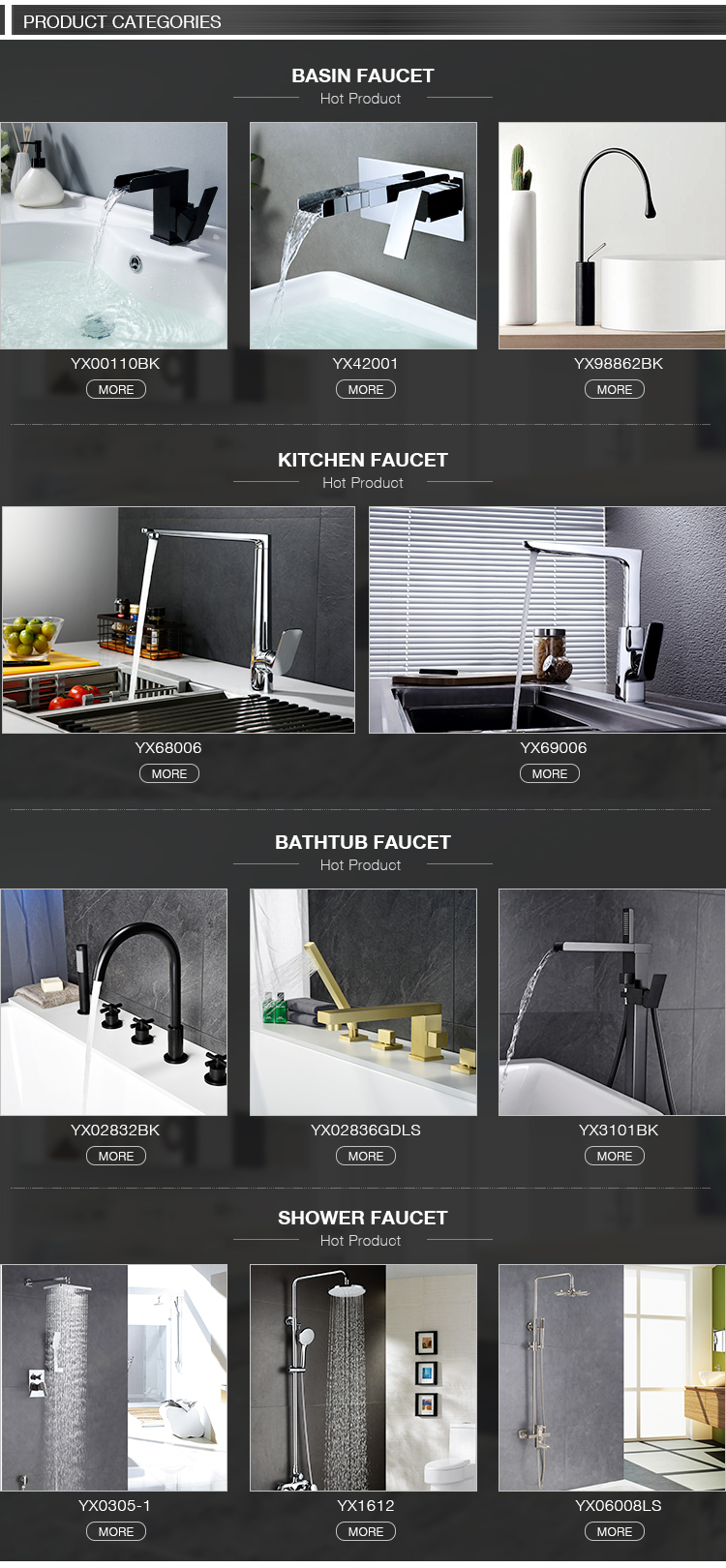 CUPC Single Hole / Two Hole / Three Hole Deck Mounted High quality black basin faucet