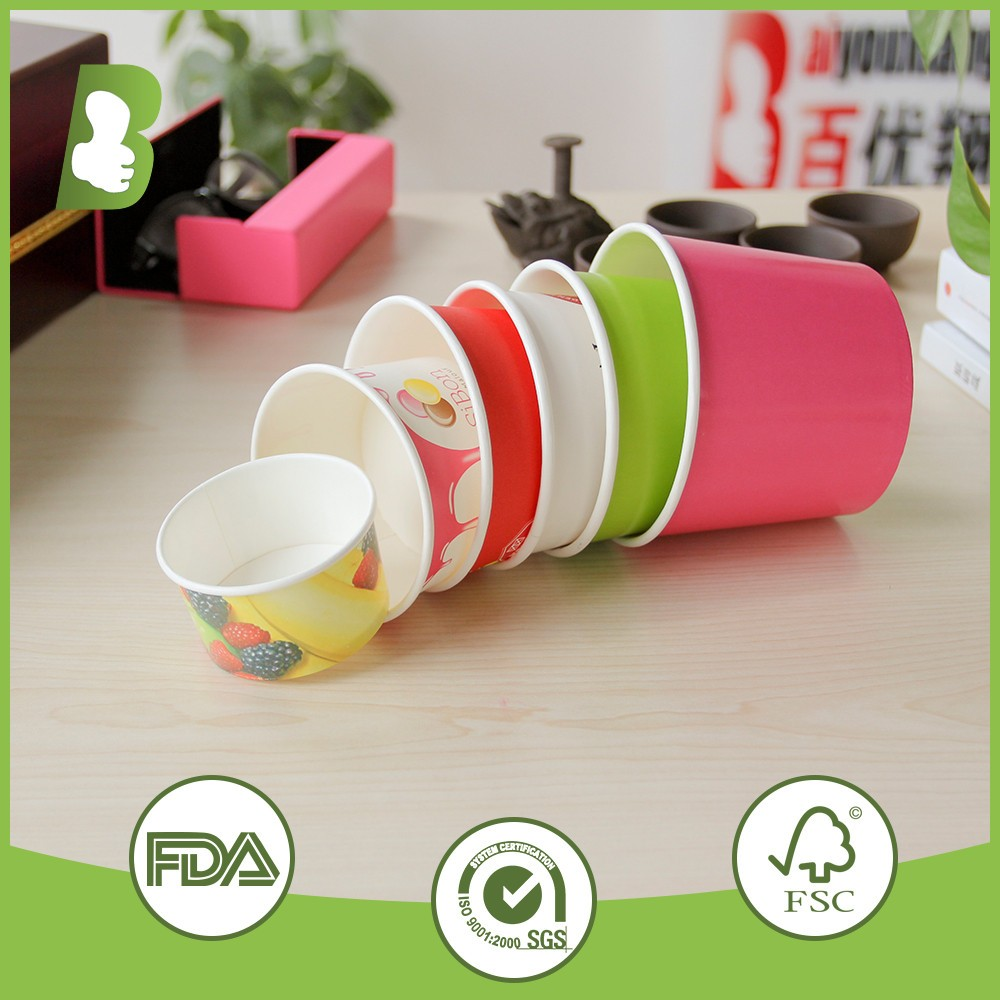disposable ice cream paper containers/Ice cream paper bowl/paper ice cream cups